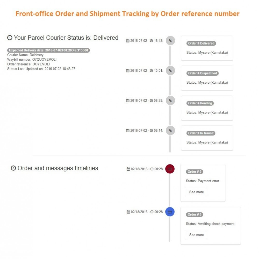 module - Rastreamento da entrega - Delhivery courier shipping and tracking solution - 2