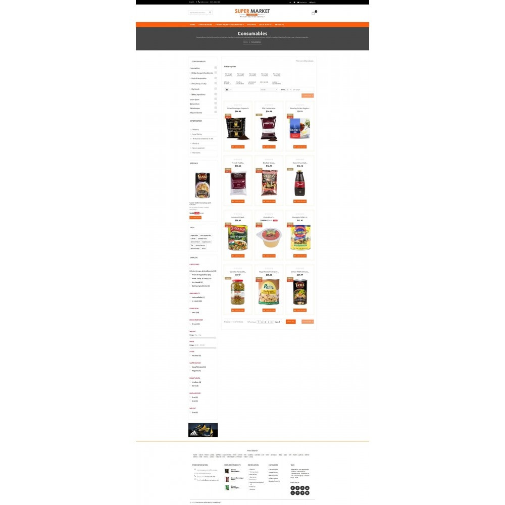 theme - Alimentation & Restauration - Supermarket Grocery Shop - 3