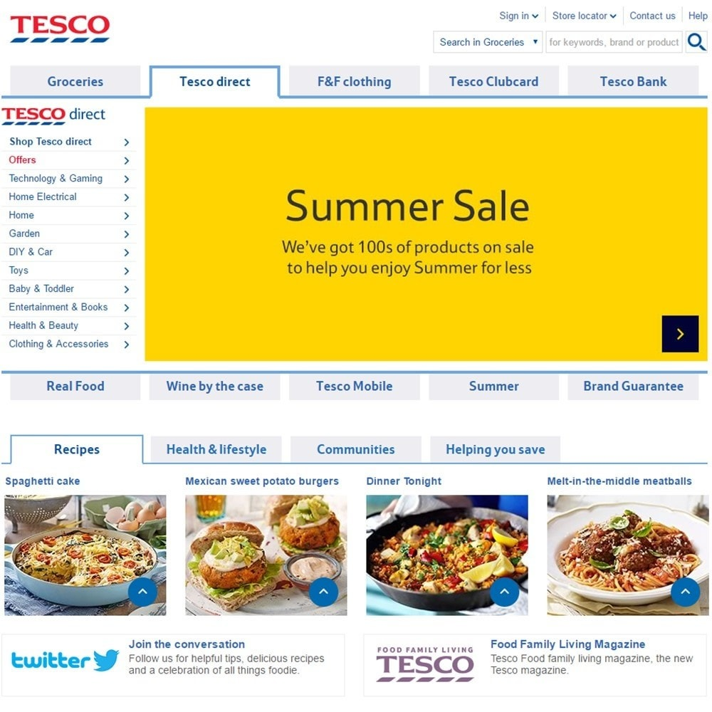 module - Импорт и Экспорт данных - Tesco - CSV Product feed - 2