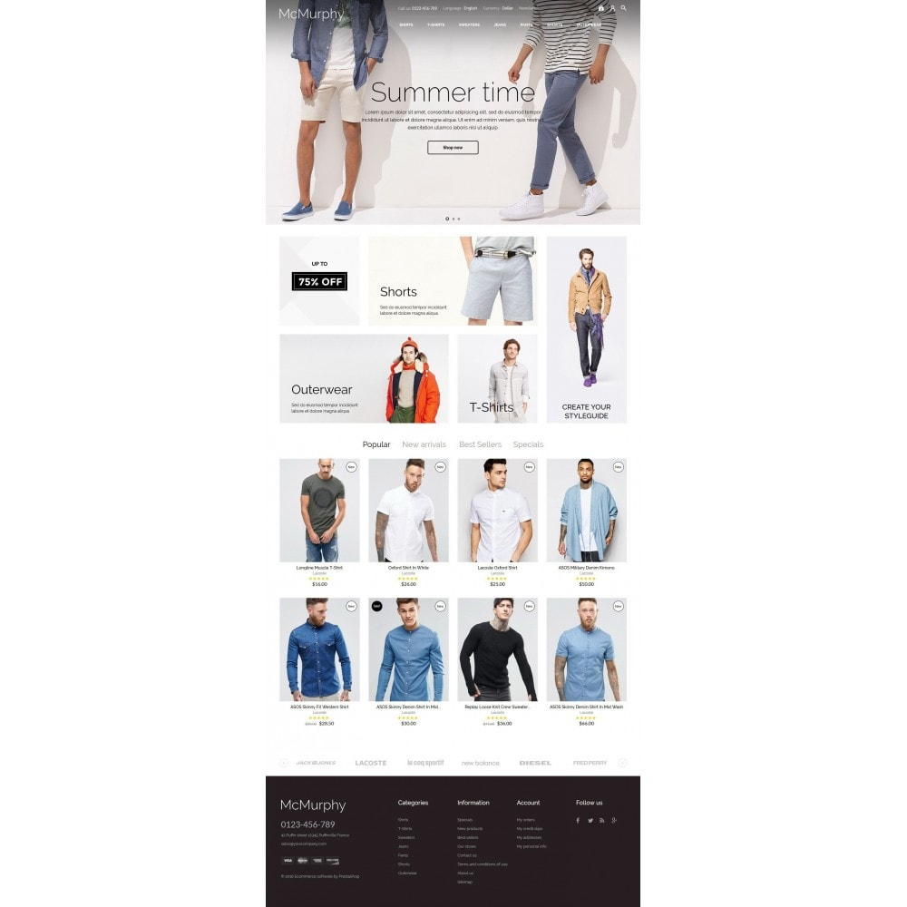 theme - Fashion & Shoes - McMurphy Men's Wear - 5
