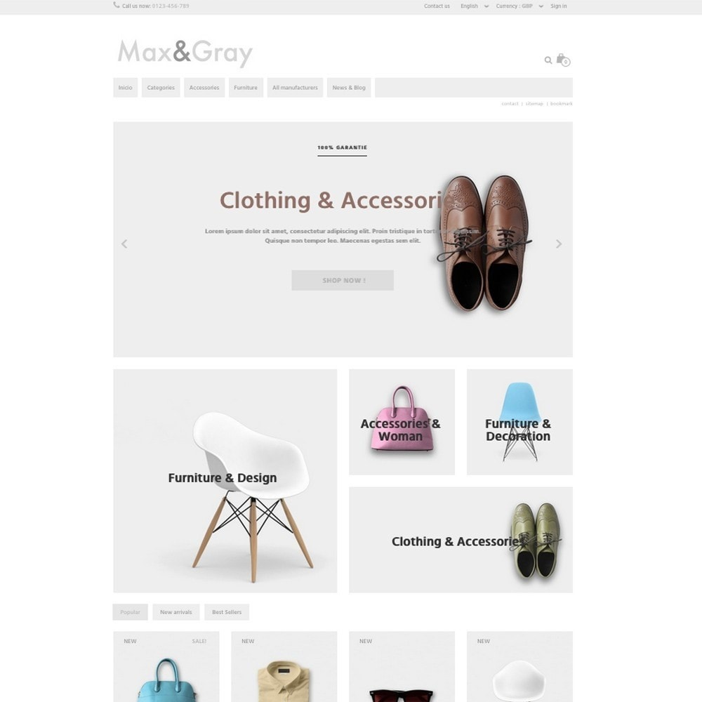 theme - Fashion & Shoes - Max&Gray - 2