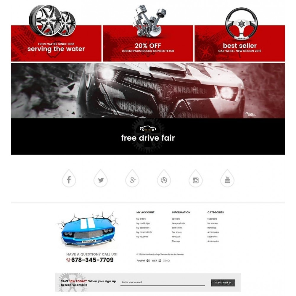 theme - Auto's & Motoren - Water Automotive & Cars - 4