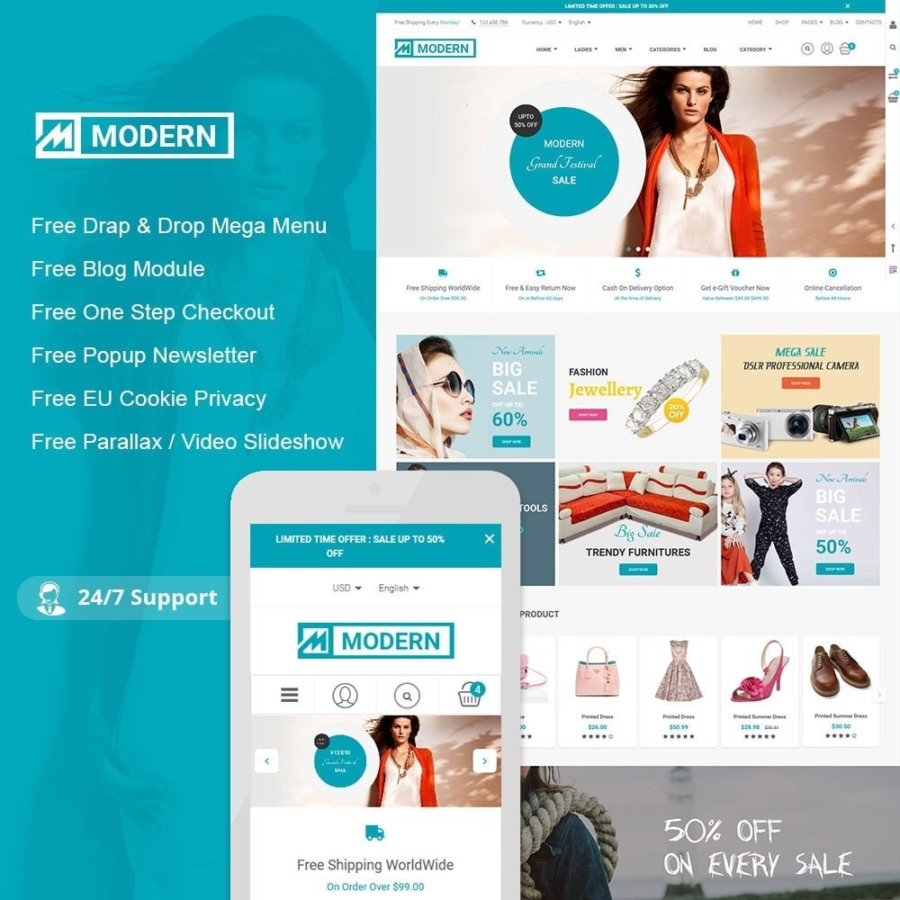 theme - Mode & Schoenen - Modern Fashion Store - 1