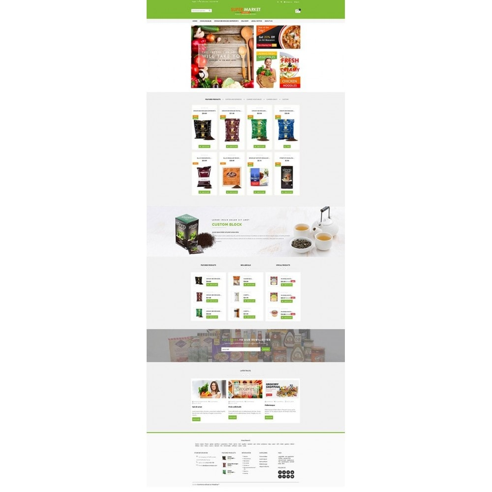 theme - Alimentation & Restauration - Supermarket Grocery Shop - 9