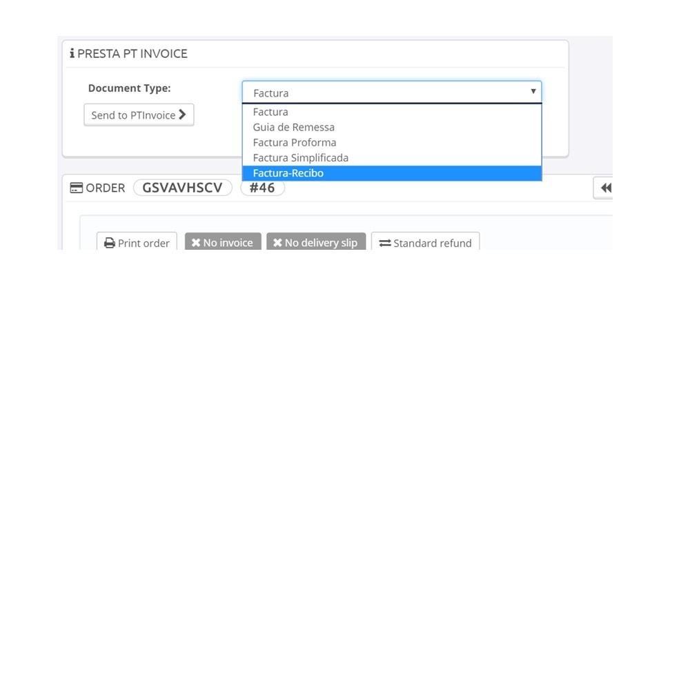 module - Contabilidade & Cobrança - Presta PT Invoice - 1
