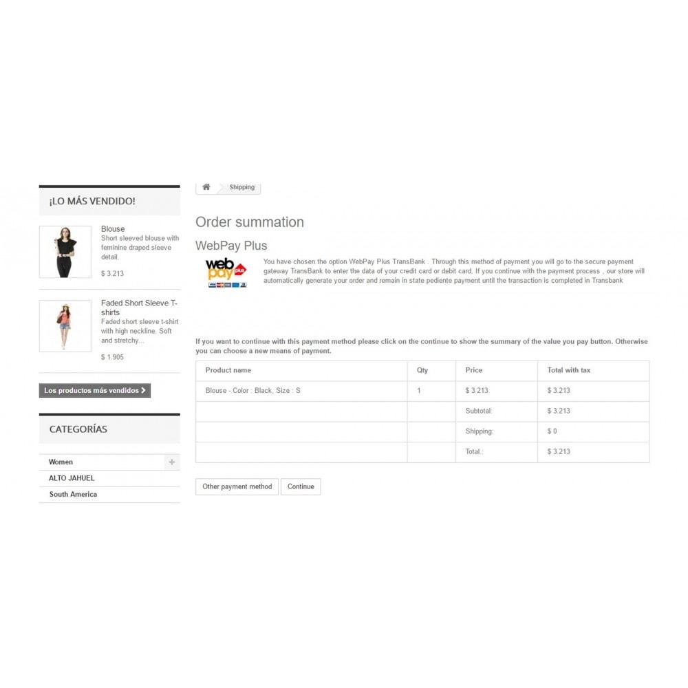 module - Pagamento por cartão ou por carteira - WebPay OneClick Transbank by Softwareagil - 2