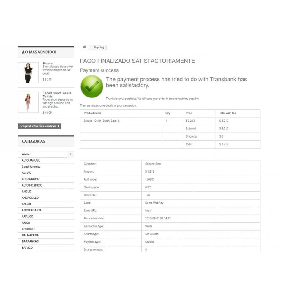 module - Creditcardbetaling of Walletbetaling - WebPay OneClick Transbank by Softwareagil - 7