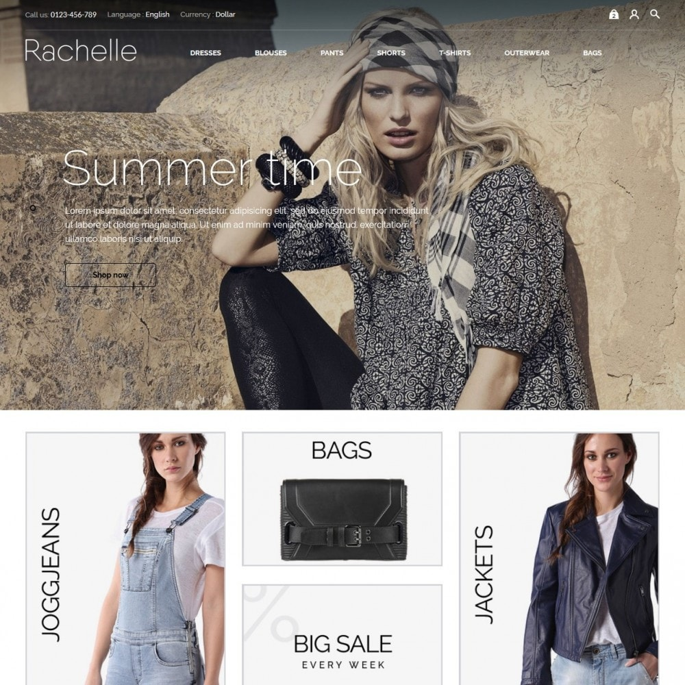 theme - Fashion & Shoes - Rachelle Fashion Store - 2