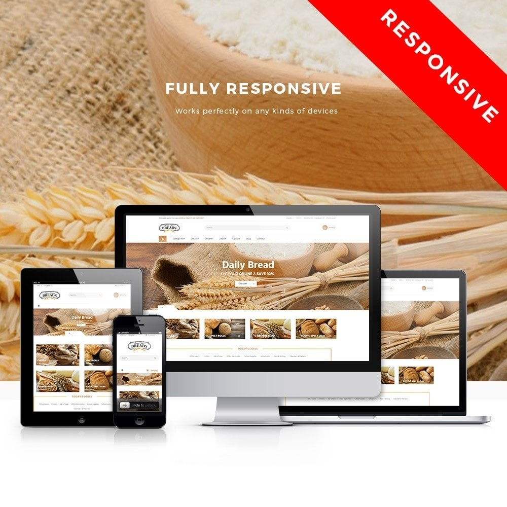 theme - Alimentation & Restauration - Leo Bread - Food & Loaf PrestaShop Theme - 1