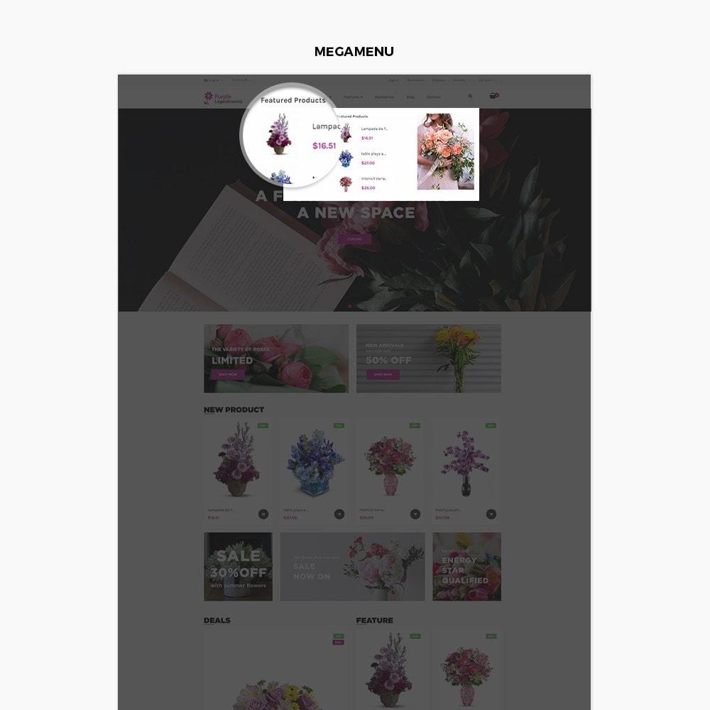 theme - Presentes, Flores & Comemorações - Ap Purple Lagerstroemia - 2