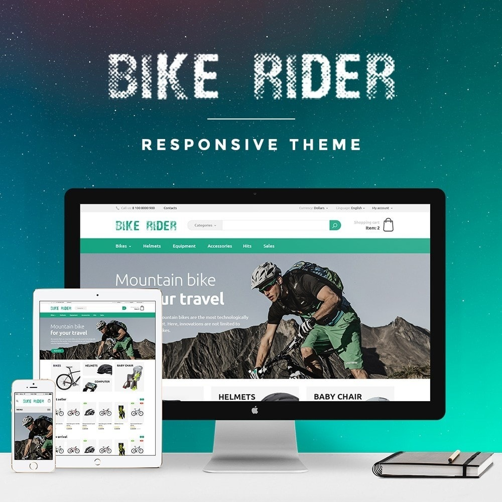 theme - Sports, Activities & Travel - Bike Rider Store - 1