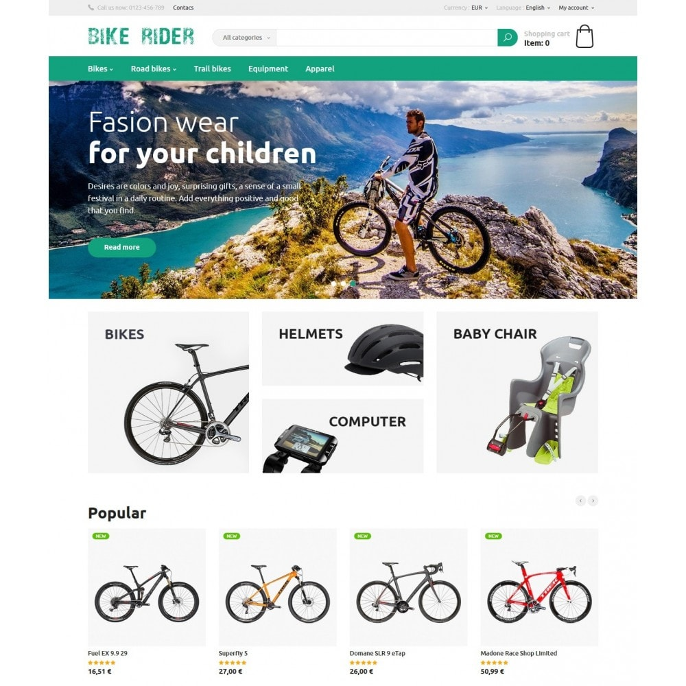 theme - Sports, Activities & Travel - Bike Rider Store - 2
