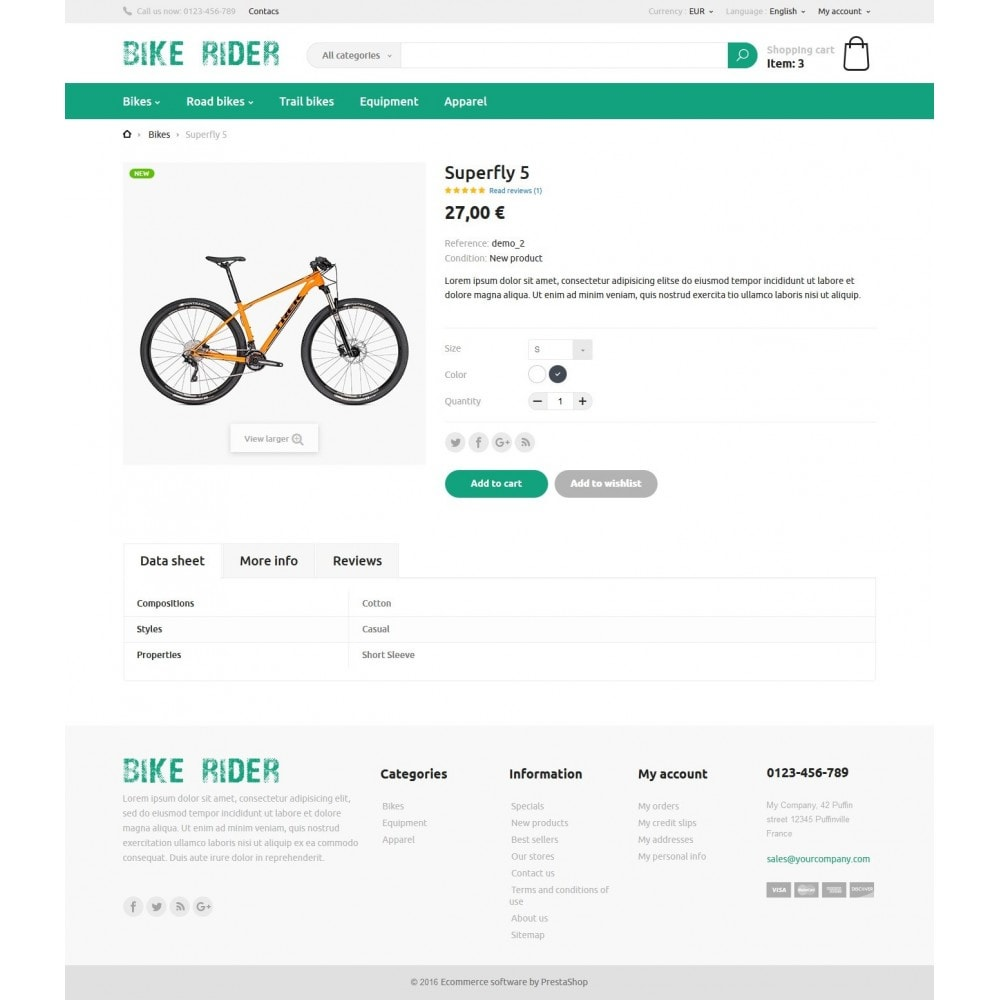 theme - Sports, Activities & Travel - Bike Rider Store - 6