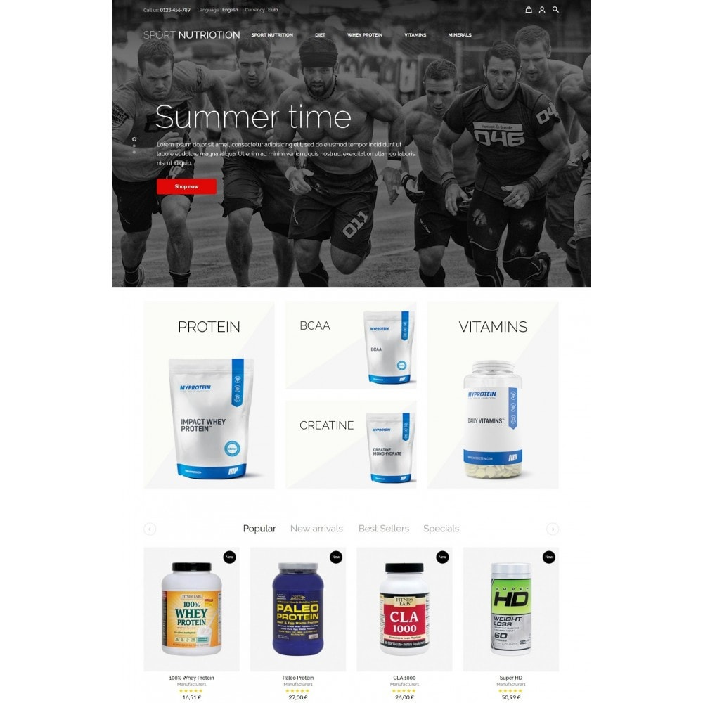 theme - Sports, Activities & Travel - Sport Nutrition Store - 2