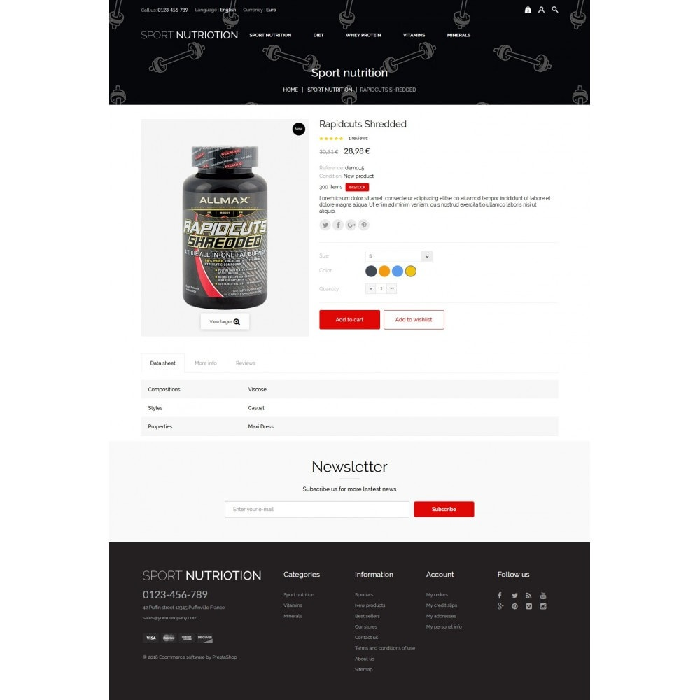 theme - Sport, Loisirs & Voyage - Sport Nutrition Store - 5