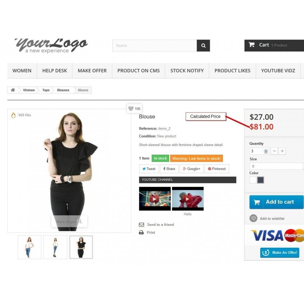 module - Dodatkowe informacje & Zakładka produktu - Price Calculator, Price Update - 3