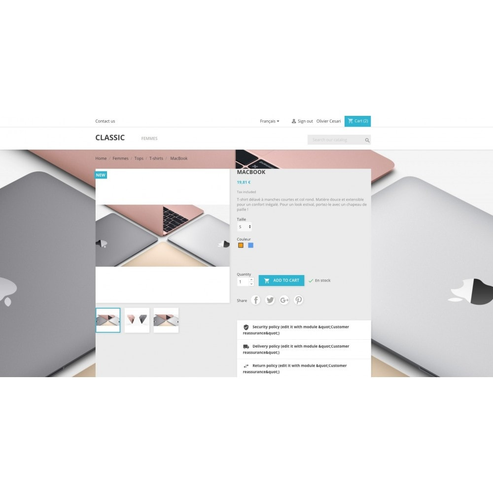 module - Personnalisation de Page - Diaporama en fond de site &  Background switcher - 2