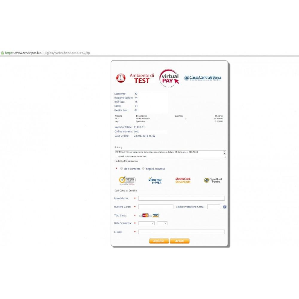 module - Pago con Tarjeta o Carteras digitales - VIRTUALpay E-GIPSy payment gateway - 5