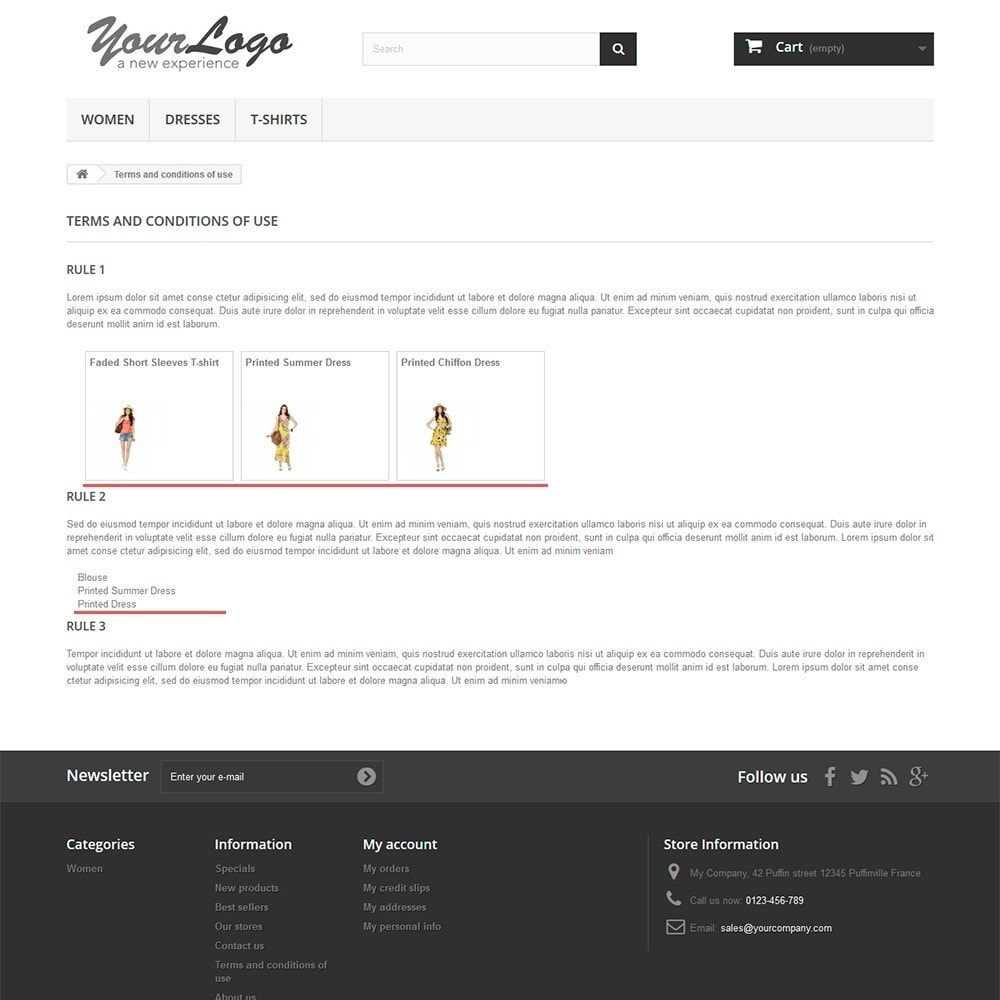 module - Personalisering van pagina's - Products in CMS pages - 2