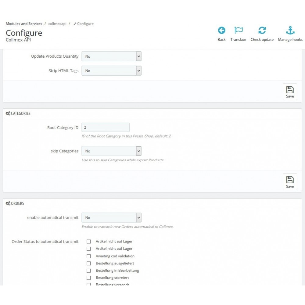 module - Third-party Data Integration (CRM, ERP...) - Collmex - API - 2