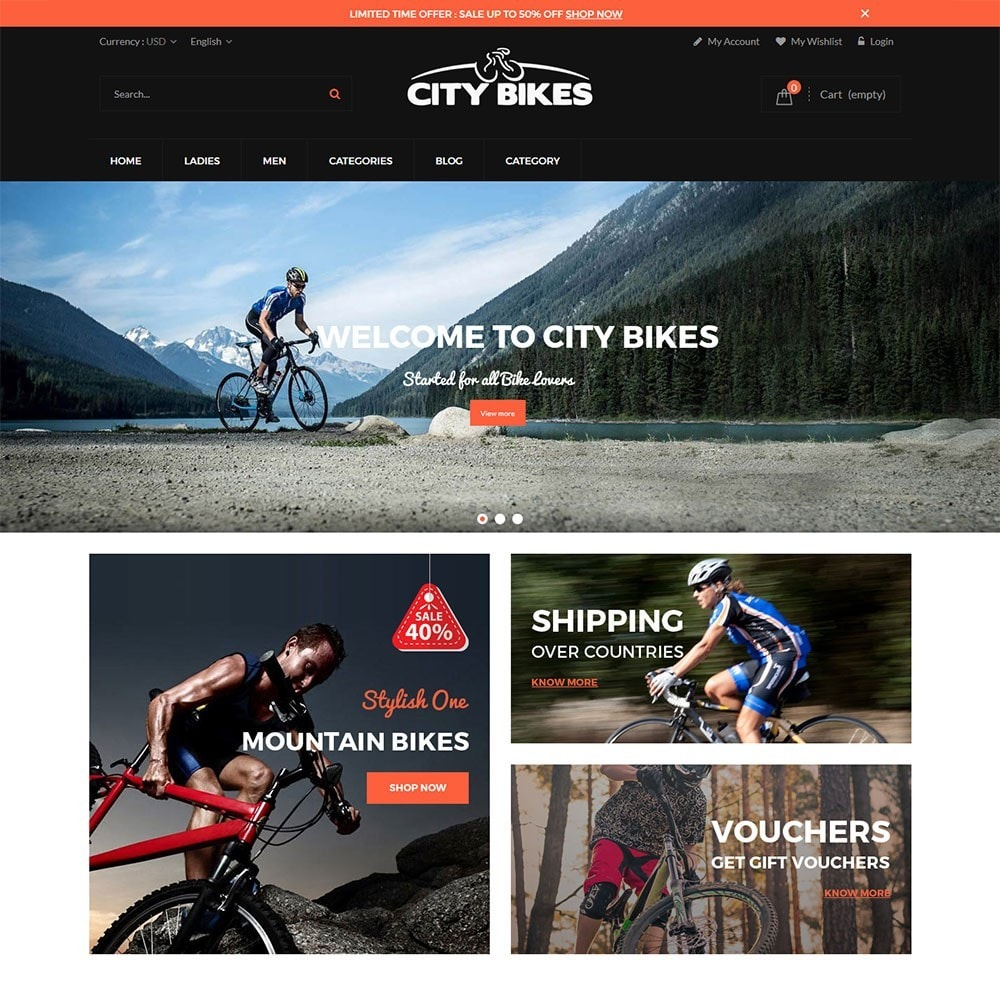theme - Sports, Activities & Travel - Citybikes Sport Gear - 2