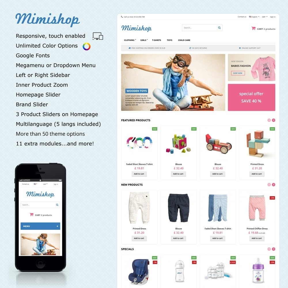 theme - Kids & Toys - Mimishop - 1
