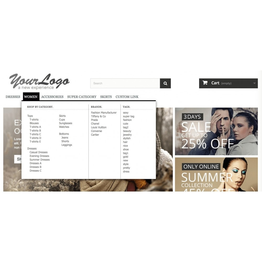 module - Menu - ShopBy Top navigation menu - 2