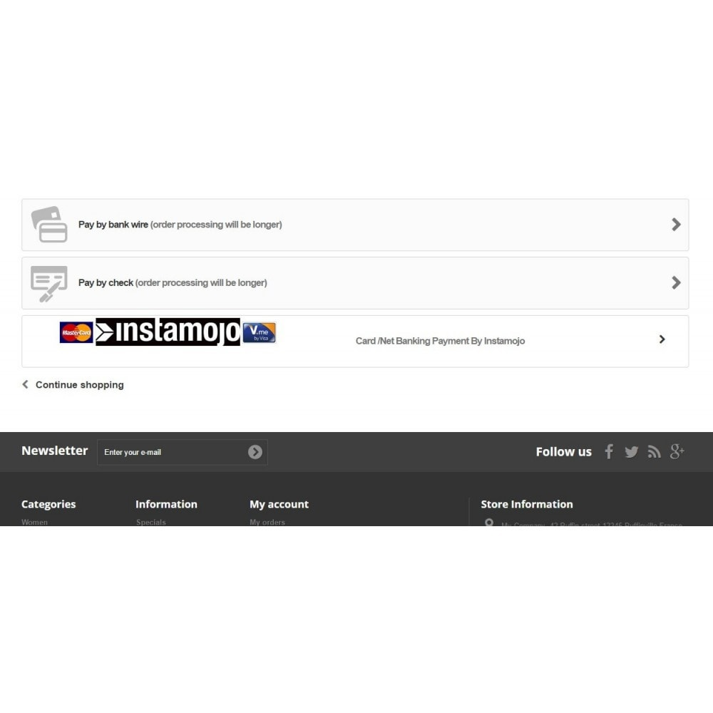 module - Payment by Card or Wallet - InstaMojo - 2