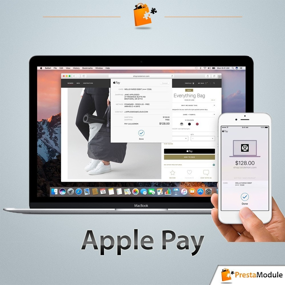 module - Paiement par Carte ou Wallet - Apple Pay - 1