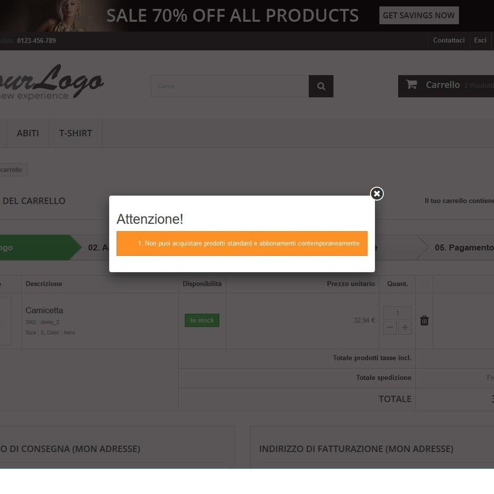 module - Pagamento con Carta di Credito o Wallet - PayPal Recurring. Vendi prodotti/servizi in abbonamento - 8
