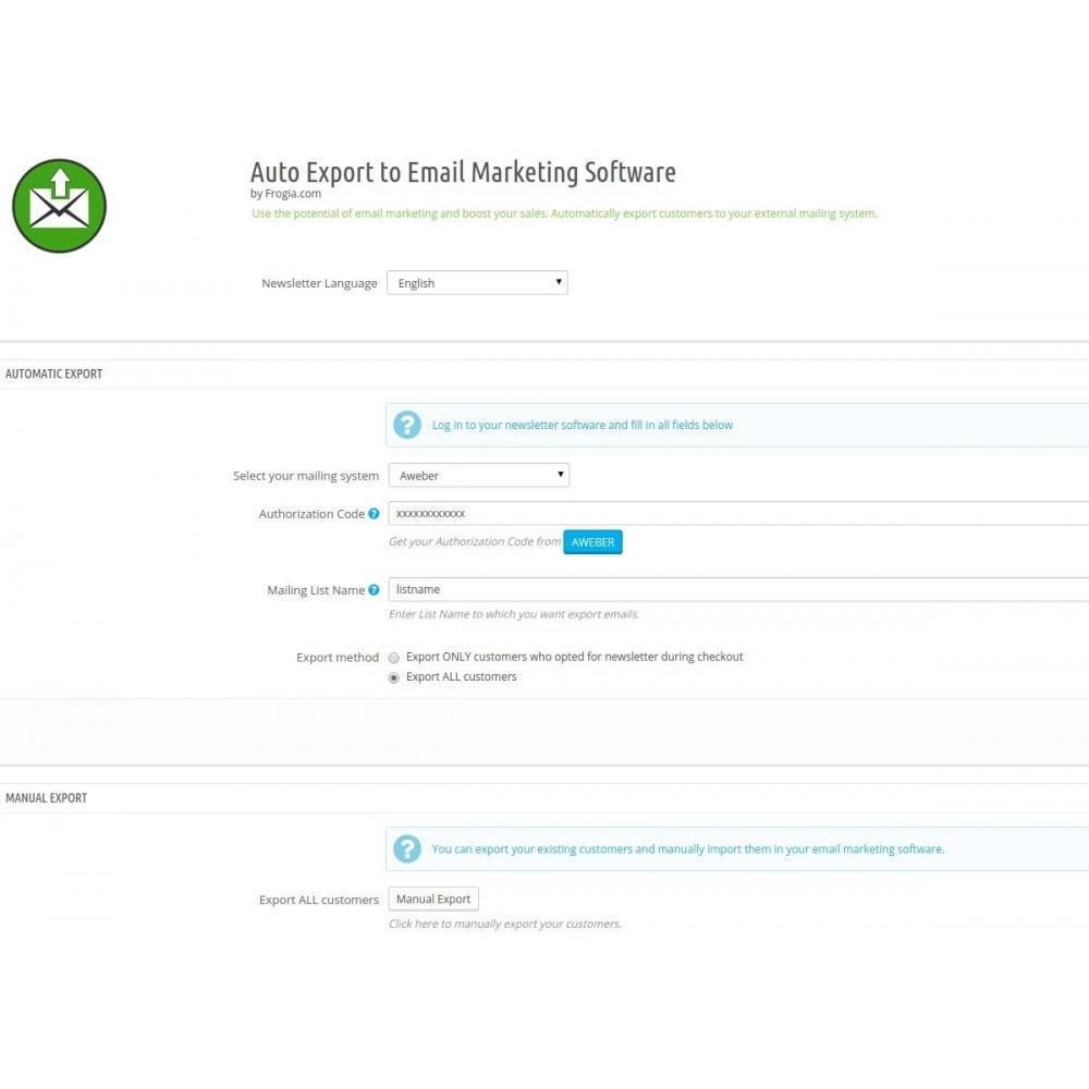 module - E-maile & Powiadomienia - Automatyczny eksport do listy adresowej - 2