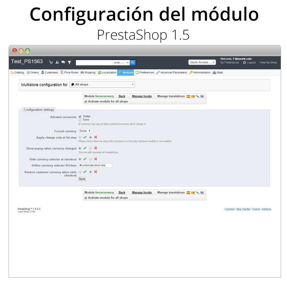 module - Inscripción y Proceso del pedido - Fuerza la moneda en el carrito - 6