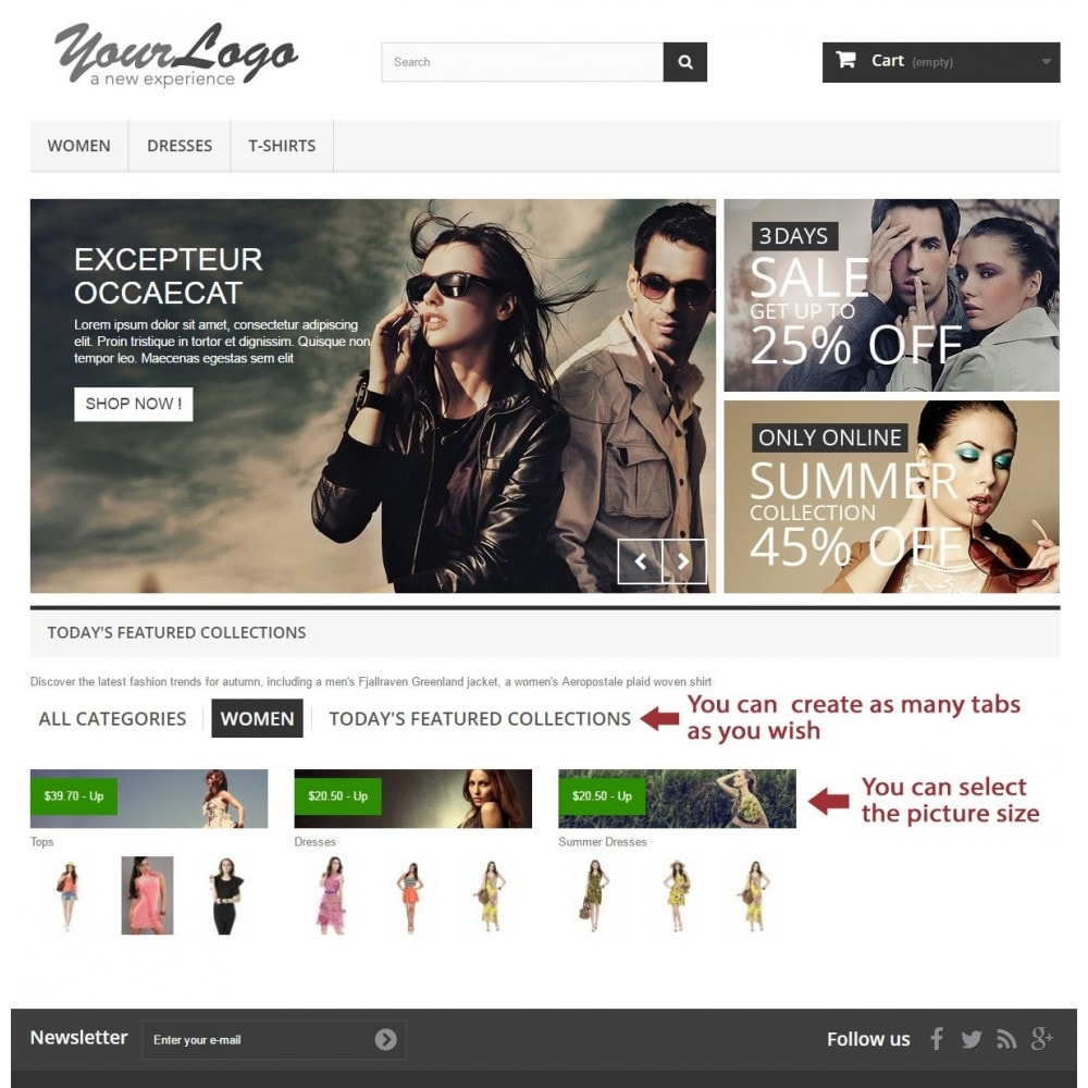 module - Producten op de homepagina - PRO responsive categories in tab or block on home page - 3
