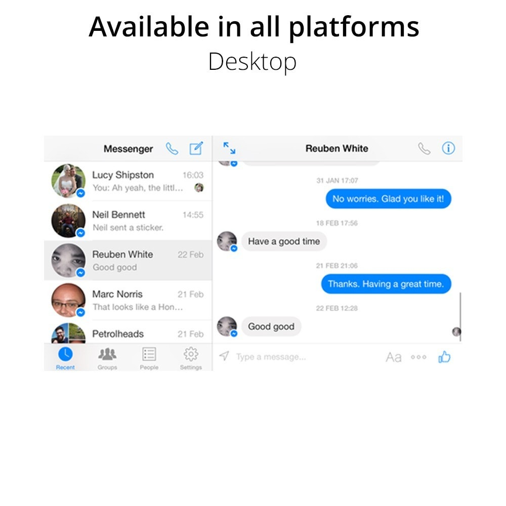 module - Support & Chat Online - Messenger Live chat - for social network - 5