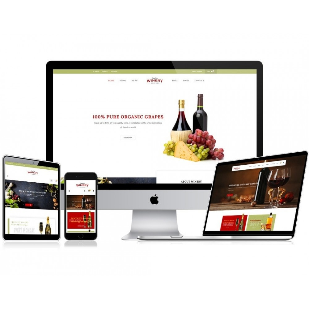 theme - Food & Restaurant - JMS Winery - 1