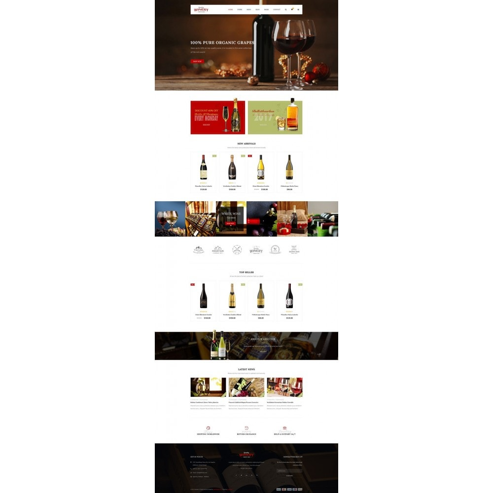 theme - Alimentation & Restauration - JMS Winery - 8