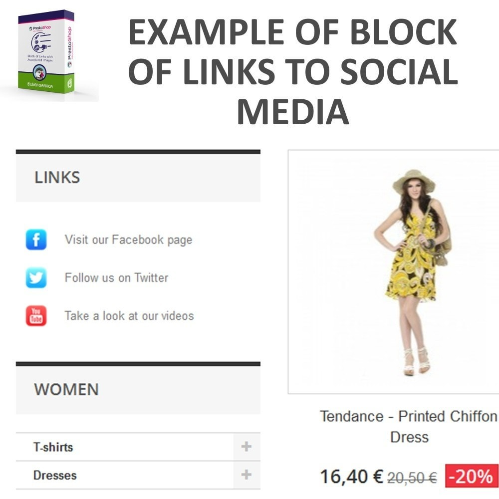 module - Blocchi, Schede & Banner - Block of Links with Images - 2