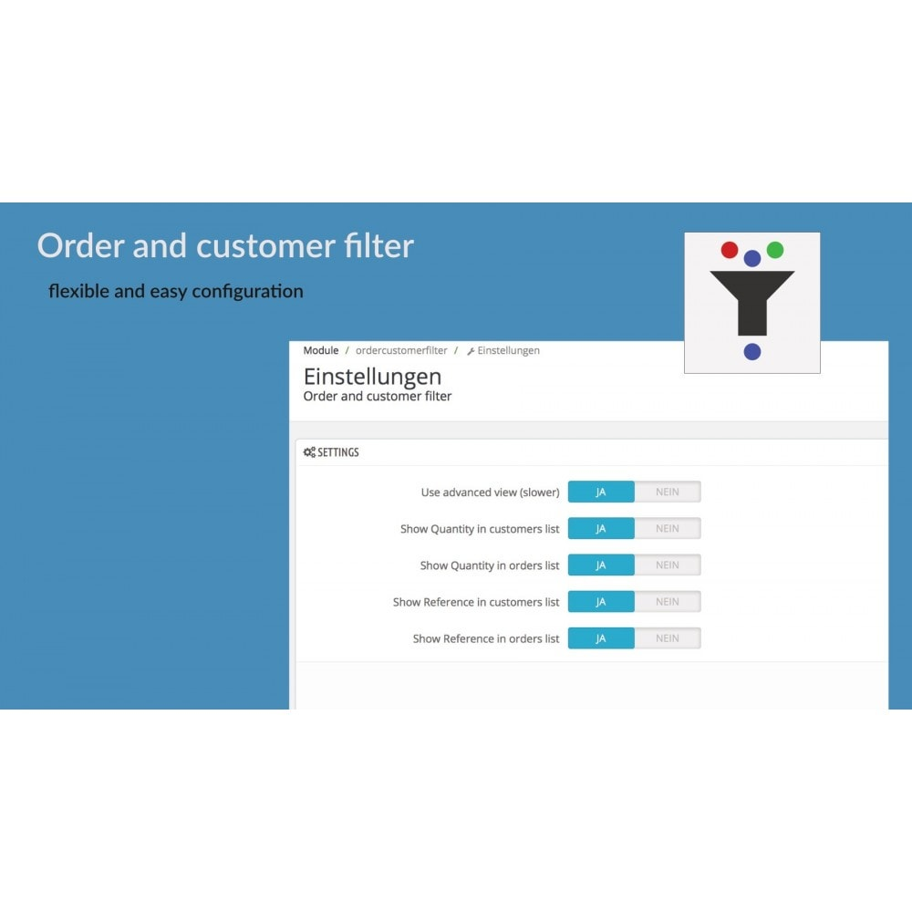 module - Gestión de Pedidos - Order and customer filter - 3