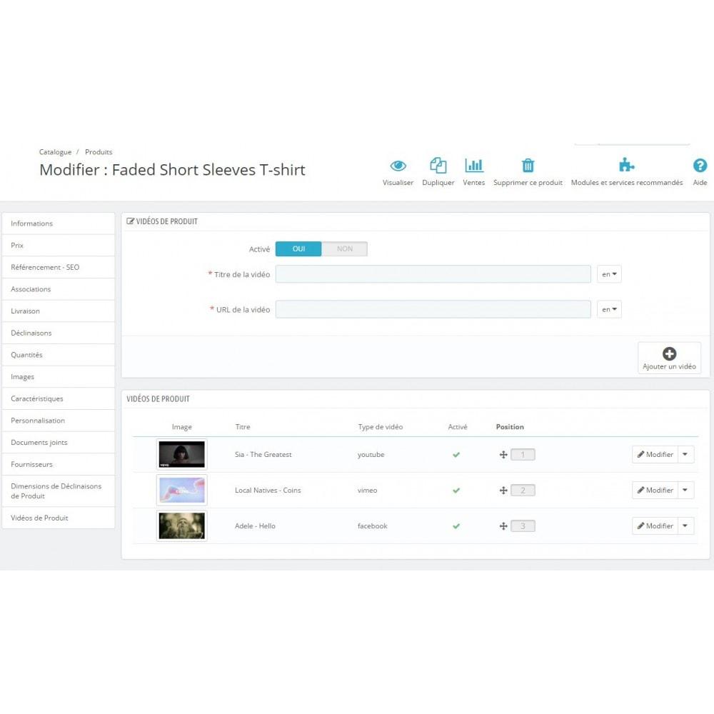 module - Vidéo & Musique - Ultimes vidéos de produits (YouTube, Vimeo, et plus) - 7