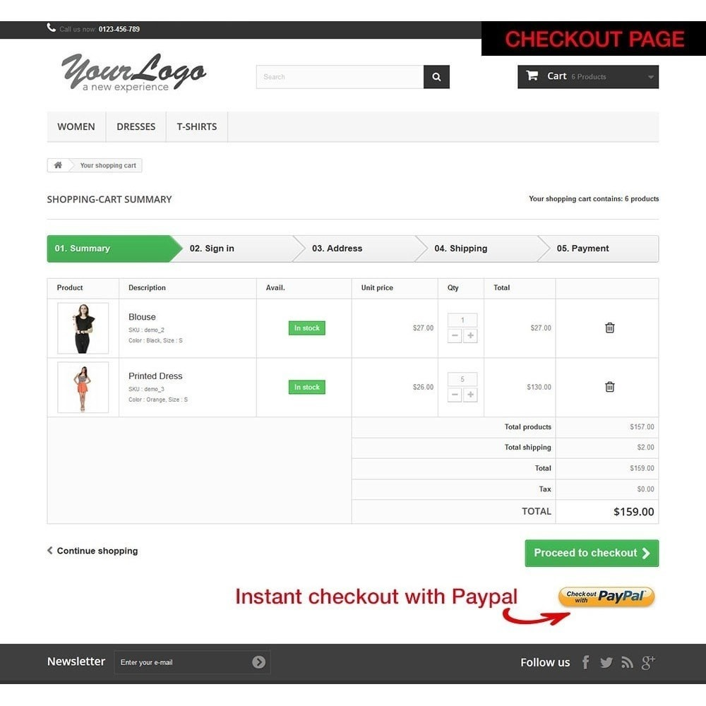 module - Bestelproces - Paypal Instant Checkout - 10