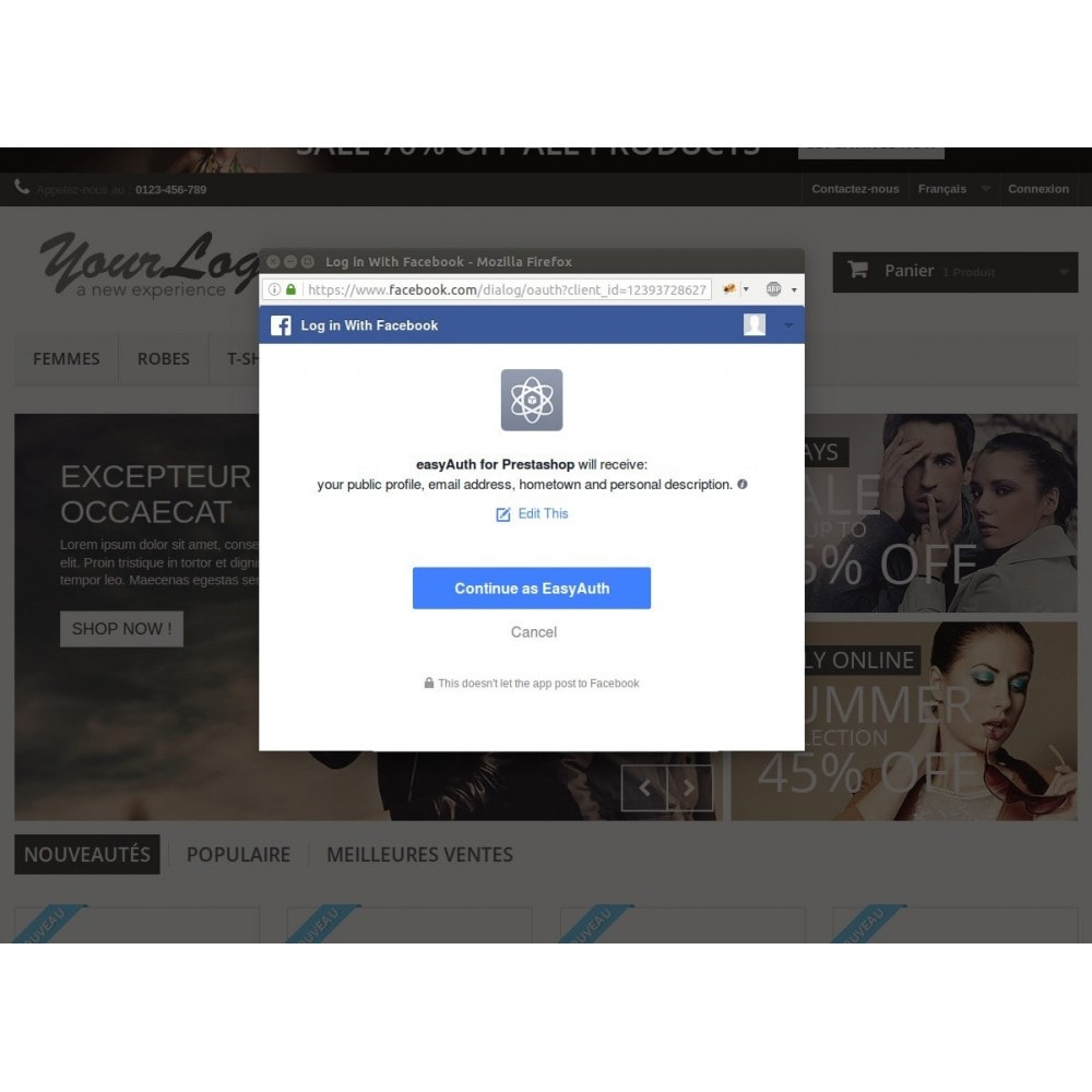 module - Boutons Login & Connect - easyAuth Social Networks Plugin (Google, Twitter...) - 3