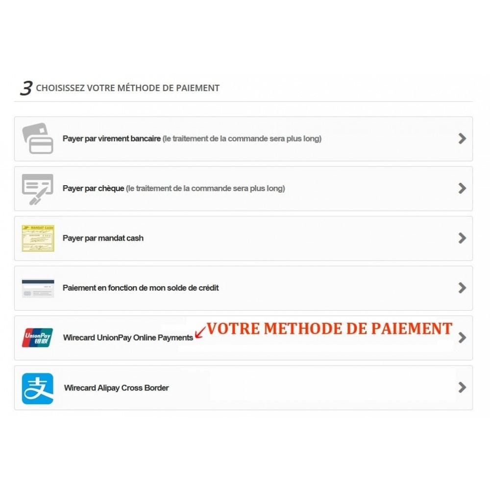 module - Autres moyens de paiement - Paiement Wirecard UnionPay Online - 3