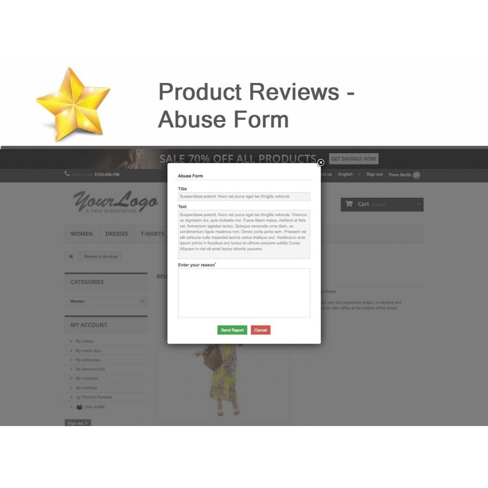 module - Opinie klientów - Product Reviews Advanced PRO + Reminder + User Profile - 18