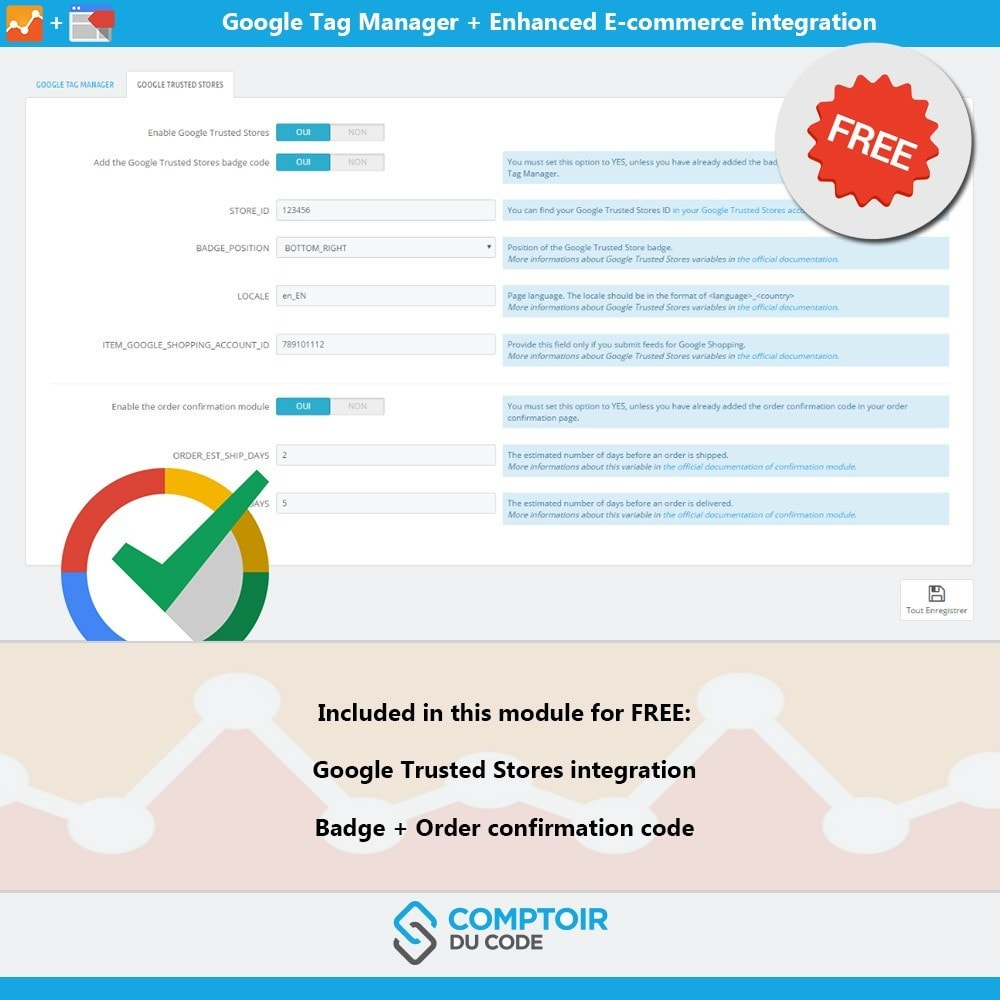 module - Analyses & Statistiques - Google Tag Manager Enhanced Ecommerce (UA) - PRO - 9