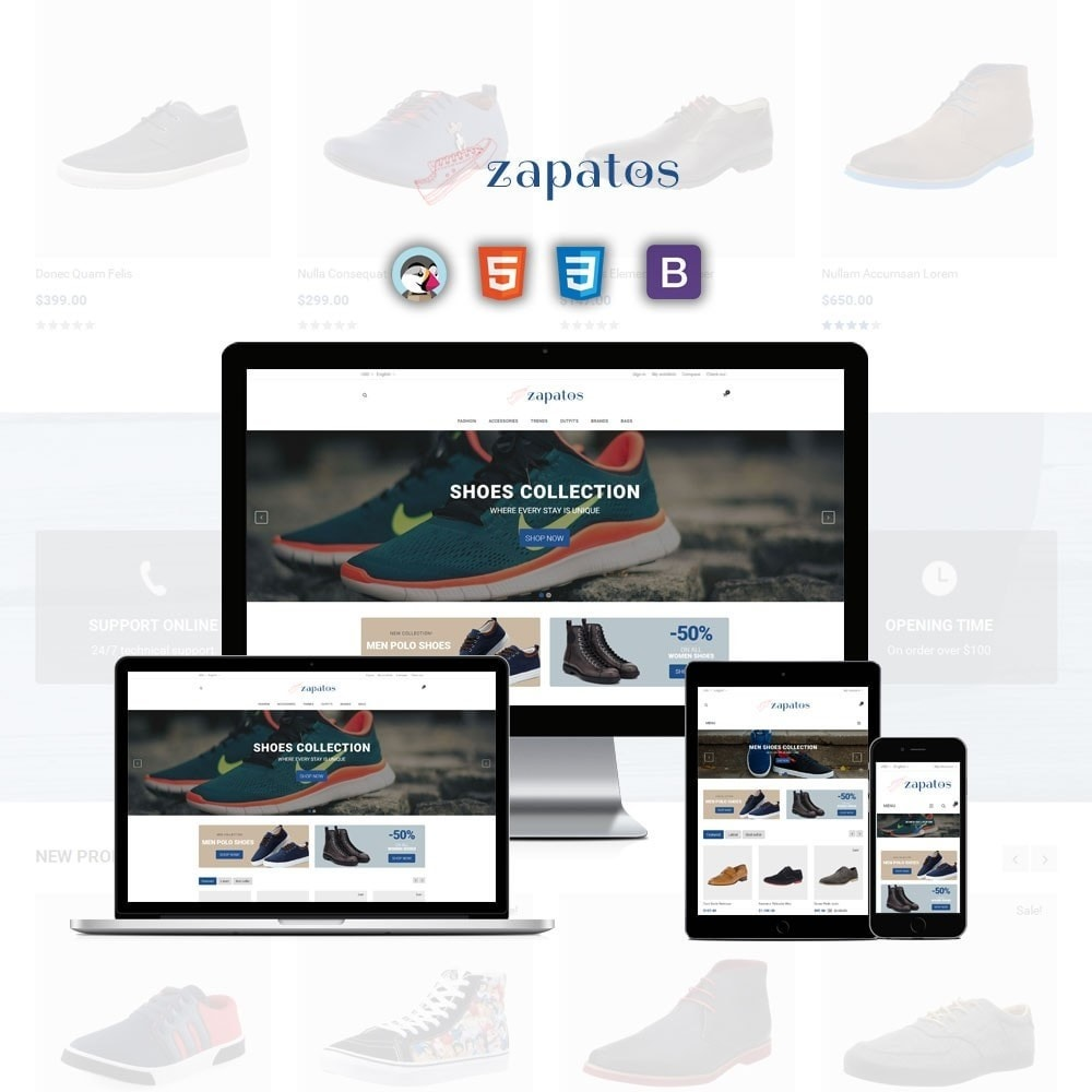 theme - Fashion & Shoes - Zapatos Shoes Store - 1