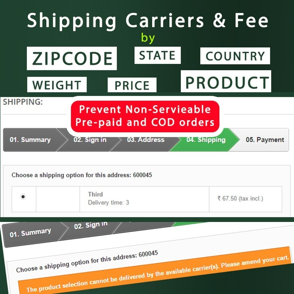module - Płatność przy obiorze - Cash on Delivery COD & Shipping Fee by Zipcode, Product - 3