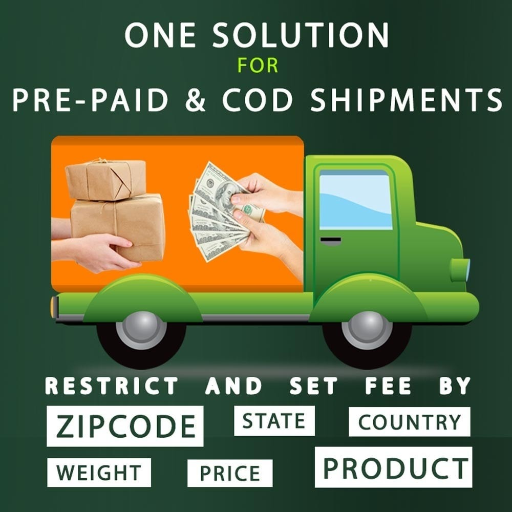 module - Płatność przy obiorze - Cash on Delivery COD & Shipping Fee by Zipcode, Product - 1