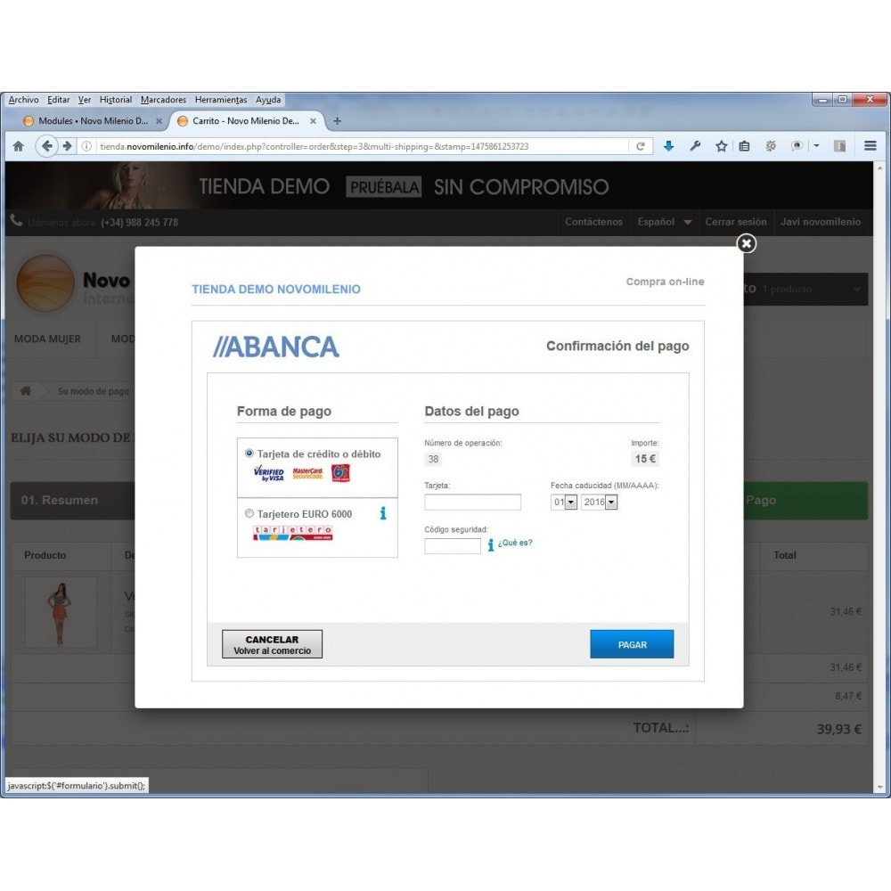 module - Pago con Tarjeta o Carteras digitales - CECA TPV Realizar pagos seguros con tarjeta de crédito - 2
