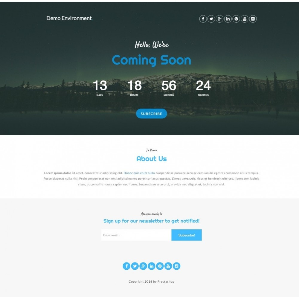 module - Page Customization - Maintenance Pro - Coming Soon pages with countdown - 6