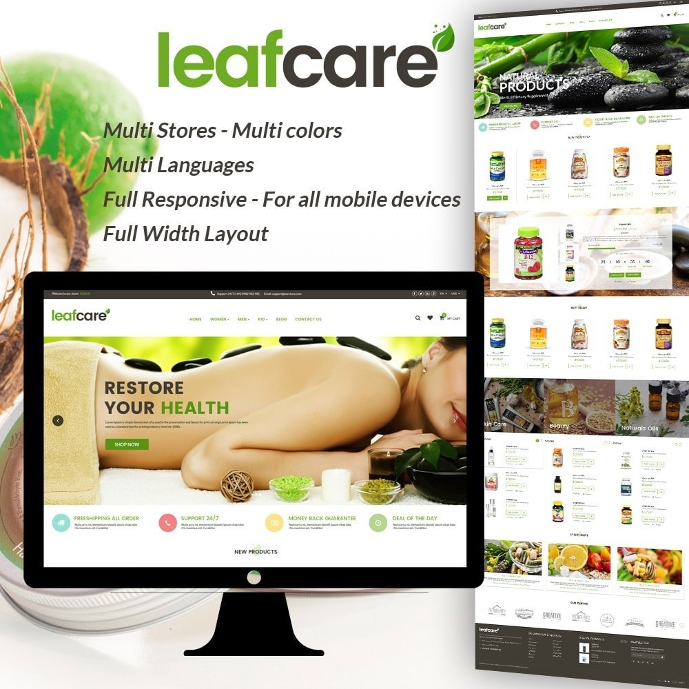 theme - Salute & Bellezza - LeafCare - Bio Medical Store - 1